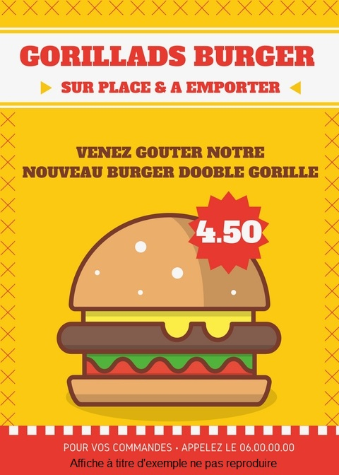 Exemple affiche fast food